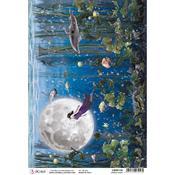 Upside Down A4 Rice Paper Sheet - Moon & Me - Ciao Bella