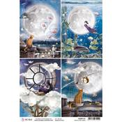 Cards A4 Rice Paper Sheet - Moon & Me - Ciao Bella