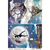 In The Moonlight A4 Rice Paper Sheet - Moon & Me - Ciao Bella