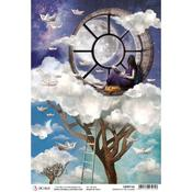 Window In The Clouds A4 Rice Paper Sheet - Moon & Me - Ciao Bella