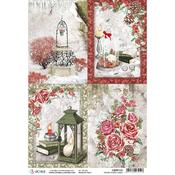 Cards A4 Rice Paper Sheet - Frozen Roses - Ciao Bella