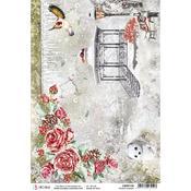 Frozen Garden A4 Rice Paper Sheet - Frozen Roses - Ciao Bella