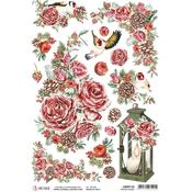 Frozen Roses A4 Rice Paper Sheet - Frozen Roses - Ciao Bella