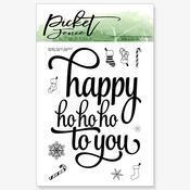 Ho Ho Ho 4 x 4 Stamp Set - Picket Fence Studios
