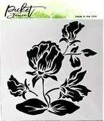 Shading Flower Stencil 6 x 6 - Picket Fence Studios