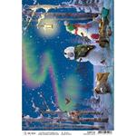 Northern Lights A4 Rice Paper Sheet - Ciao Bella