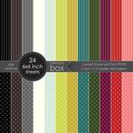 Garland Stripes & Dots Paper Pad 6 x 6- Memory Box