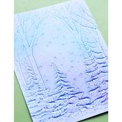 """Snowy Forest 3D Embossing Folder 4.5""""X 5.75""""- Memory Box - PRE ORDER"""