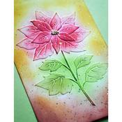 "Magnificent Poinsettia 3D Embossing Folder 4.5""X 5.75""- Memory Box"