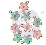 Sugar Cookie Christmas Enamel Charms Flower - Prima