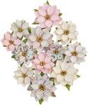 Glittery Snow Flowers - Sugar Cookie Christmas - Prima