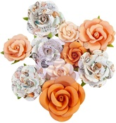 Orange Sunset Flowers - Pumpkin & Spice - Prima