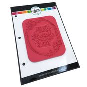 Stronger Wreath Background Stamp - Catherine Pooler