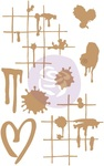 Ink & Splatters Chipboard Diecut - Prima