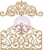 Flourish Gate Chipboard Diecut - Prima