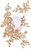 Beautiful Fleur Chipboard Diecut - Prima