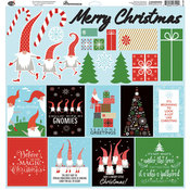 Gnome For Christmas Cardstock Stickers 12 x 12 - PRE ORDER