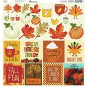 Happy Fall Cardstock Stickers 12 x 12