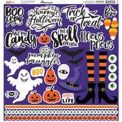 Spooky Jack Cardstock Stickers 12 x 12 - Spooky Jack - Reminisce - PRE ORDER