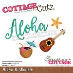 Aloha Dies 3.8 X 2.1, Ukulele Dies 1.1 X 2.7 - Cottage Cutz