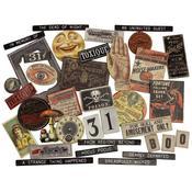 Antique Silver Halloween Idea-Ology Chipboard Baseboards - Tim Holtz - PRE ORDER