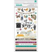 Tell Your Story Chipboard Stickers - Vicki Boutin
