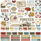 Simple Vintage Ancestry Cardstock Sticker - Simple Stories