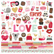 Sweet Talk Cardstock Sticker - Simple Stories