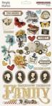 Simple Vintage Ancestry Chipboard Stickers - Simple Stories