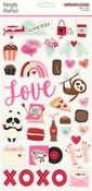 Sweet Talk Chipboard Stickers - Simple Stories
