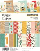 Hello Today 6x8 Pad - Simple Stories - PRE ORDER
