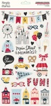 Say Cheese Main Street Chipboard Stickers - Simple Stories