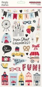 Say Cheese Main Street Chipboard Stickers - Simple Stories - PRE ORDER