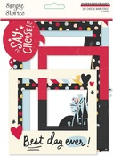Say Cheese Main Street Chipboard Frames - Simple Stories - PRE ORDER