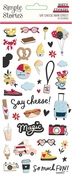 Say Cheese Main Street Puffy Stickers - Simple Stories - PRE ORDER