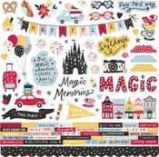 Cardstock Sticker Say Cheese Main Street - Simple Stories - PRE ORDER