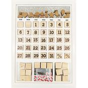 White Frame Magnetic Calendar - Foundations Decor