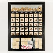 Black Frame Magnetic Calendar - Foundations Decor