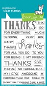 Thanks Thanks Thanks Clear Stamps - Lawn Fawn