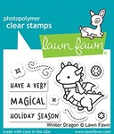 Winter Dragon Clear Stamps - Lawn Fawn
