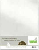 Metallic Silver 8.5 x 11 Cardstock - Lawn Fawn