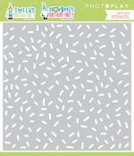 Tulla & Norbert's Birthday Confetti Stencil - Photoplay - PRE ORDER