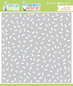 Tulla & Norbert's Birthday Confetti Stencil - Photoplay