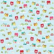 Christmas Village Paper - Fa La La - Bella Blvd