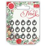 Wreath Metal Charms - Noel - Craft Consortium