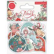 Noel Laser Cut Wooden Shapes - Noel - Craft Consortium