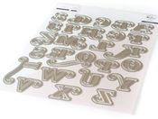 Lea's Ornate Uppercase Die Set - Pinkfresh Studio