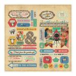 Elements Die-Cut Sheet 12 x 12 - Delicious - Authentique