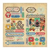 Elements Die-Cut Sheet 12 x 12 - Delicious - Authentique