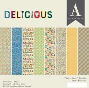 Delicious 6x6 Paper Pad - Authentique